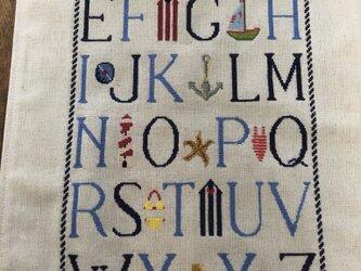 クロスステッチアルファベットサンプラーマット(summer)の画像