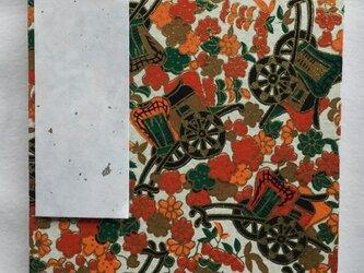 御朱印帳 A6判10,8×15,1㎝ 友禅和紙 御所車の画像