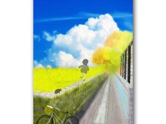 「元気ー!♪」 ほっこり癒しのイラストポストカード2枚組 No.1058の画像