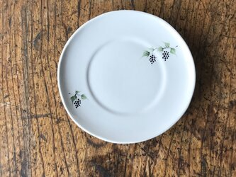 色絵リム小皿 ブドウの画像