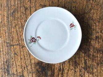 色絵リム小皿 椿の画像