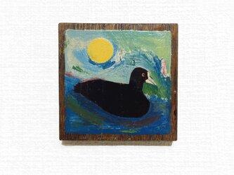 漆の壁掛け「オオバン」の画像