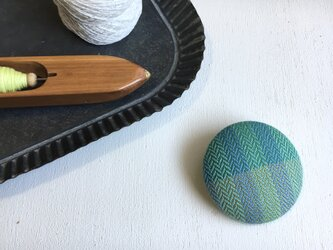 brooch -circle green-の画像
