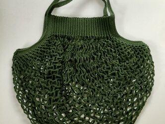 『hibi』ネットバッグ(綿・Green)の画像