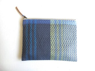 flat pouch -blue gray-の画像