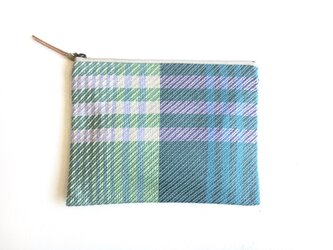 flat pouch -green gray-の画像
