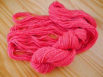 手紡ぎ糸<ペレンデール × 蘇芳染め>の画像