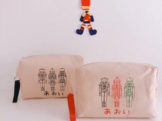 【おむつポーチ】【名入れ】兵隊さん 男の子 お名前 オーダー 刺繍   ベビー 出産祝い赤ちゃん【無料ラッピング】 heitaiの画像