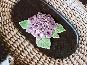 ナンタケットバスケット オーナメント 大 紫陽花(スペイン陶土)の画像