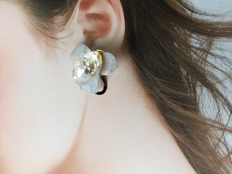 《再販》植物図鑑 himesyara  姫沙羅 (ピアス)ホワイトゴールド ※イヤリング付け替え可の画像