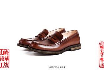 手作りハラコレザーヴァンブ子牛革靴カジュアルメンズシューズスリッポンハンドメイド靴の画像