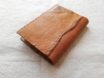 ブックカバー ブラウン オイルシュリンクレザーの画像