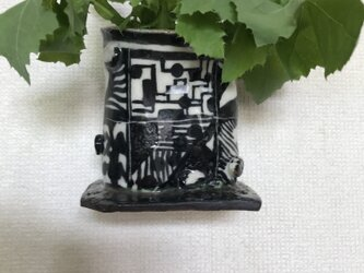 陶芸 手びねり 花瓶 壁にかけられますの画像