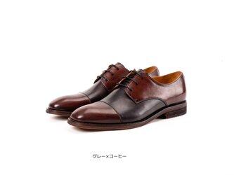 手作りハラコレザーストレートチップ紳士靴子牛革靴ビジネス羽根式メンズシューズの画像