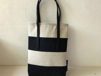 miniバッグ/ブラック×グレージュの画像