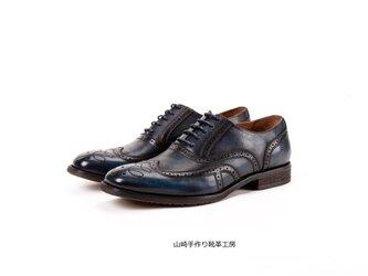 手作りハラコウイングチップカジュアルオックスフォード羽根式シューズ紳士靴子牛革の画像
