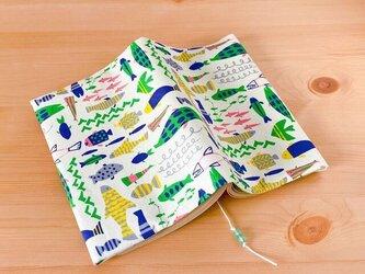 魚だらけのブックカバー 文庫本用の画像
