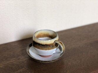 white & brown コーヒーカップ & ソーサーの画像