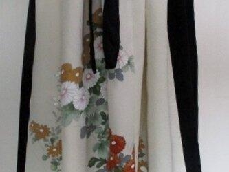 4850 花柄の訪問着で作ったスカート #送料無料の画像