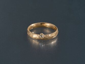 ダイヤモンド原石 槌目のリングの画像