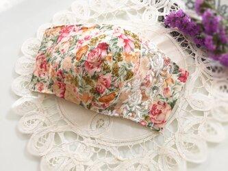 ♥♥バラがいっぱい・・バラレースマスク♥大人用ノーズワイヤー入り♥♥の画像