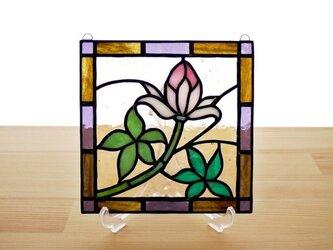 ステンドグラス ミニパネル 野草 15cmの画像