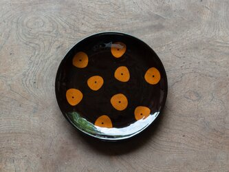 飴釉 六寸皿(19.5cm) GSの画像