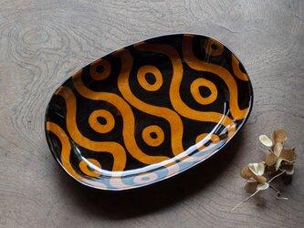 飴釉楕円パスタ皿(24cm) GNYAの画像