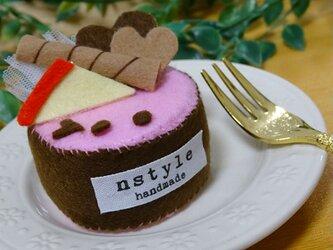 フェルトままごと ケーキの画像