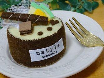 手のひらサイズのぷちケーキ フェルトの画像