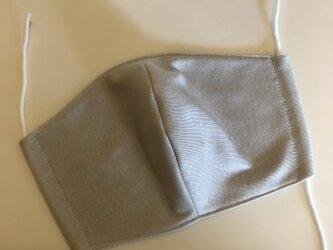 夏用ひんやりマスク 冷感素材クールマーベラス ライトグレーの画像