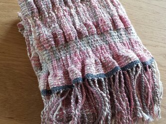 【手織り】木綿のストール#15の画像