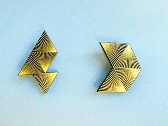 伝統工芸截金ピアス《polygon 1》の画像