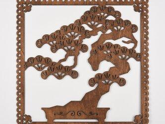 ビッグウッドフレーム「盆栽」(木の壁飾り)の画像