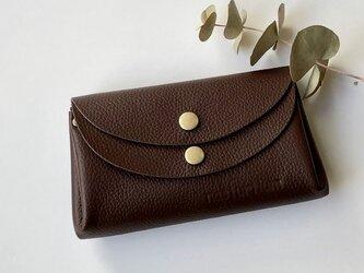 【ブラウン】牛革のコロンとかわいい小さなお財布 の画像