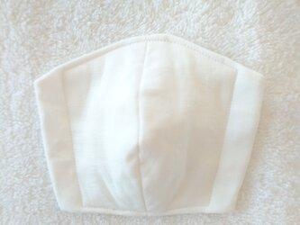 Wガーゼのキッズ立体マスク  無地 白の画像