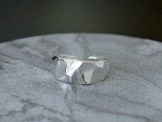 Crystal ring silver925の画像