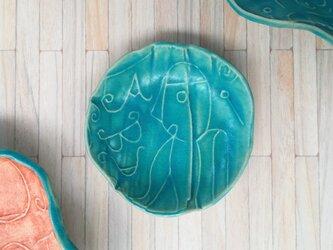 明るく、楽しく、美味しく!トルコマット小皿1 ターコイズブルーの画像