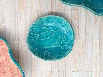 明るく、楽しく、美味しく!トルコマット小皿4 ターコイズブルーの画像