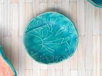 明るく、楽しく、美味しく!トルコマット小皿5 ターコイズブルーの画像