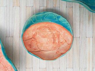 明るく、楽しく、美味しく!トルコマット小皿6 ターコイズブルーの画像