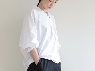 creampuff blouse / whiteの画像