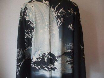 柄が大胆な絽の絵羽織からカーディガンコート 絹の画像