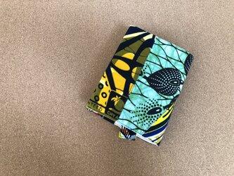 e148-アフリカ布パッチワーク文庫本カバーの画像