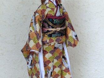 「花渡る鳥」27cmドール着物の画像