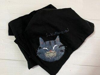 黒トラ猫夏のストールの画像