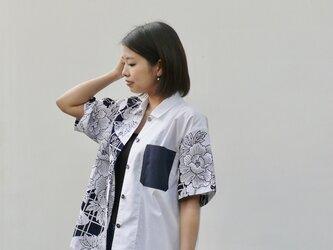 【受注制作】柄が選べる浴衣アロハシャツ 白の画像