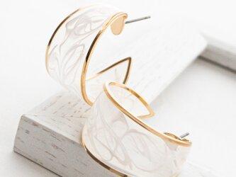 Resin marble hoop pierces/earringsの画像
