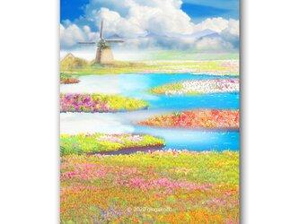 「夏宿す楽園」 ほっこり癒しのイラストポストカード2枚組 No.1061の画像