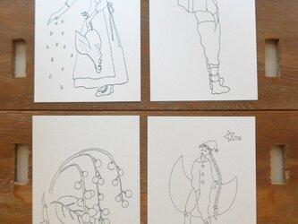 【大人のぬり絵】4枚セット(ポストカード)の画像